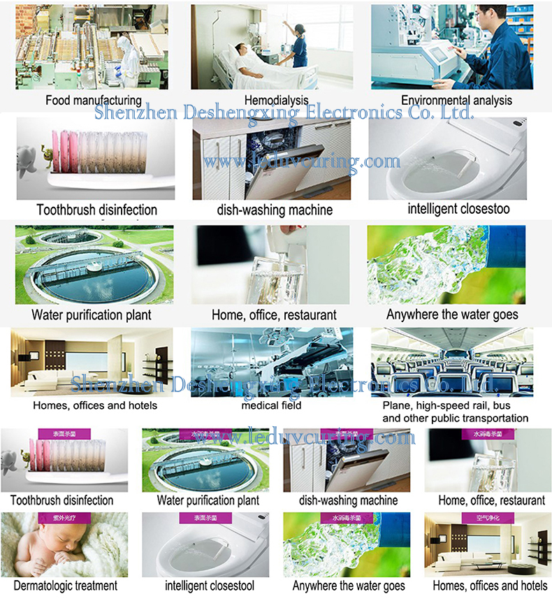Germicidal UVC LED Ultraviolet Light for Disinfection